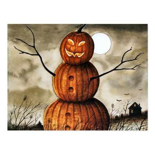Pumpkin Man Postcard