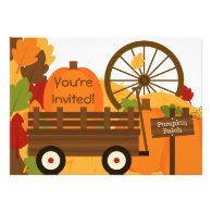Pumpkin Patch Autumn Party Invitations