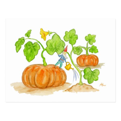 Pumpkin Patch Gnome postcard