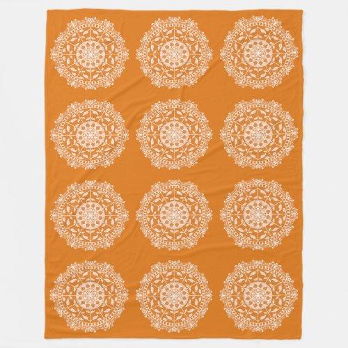 Pumpkin Pie Mandala Fleece Blanket