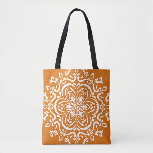 Pumpkin Pie Mandala Tote Bag