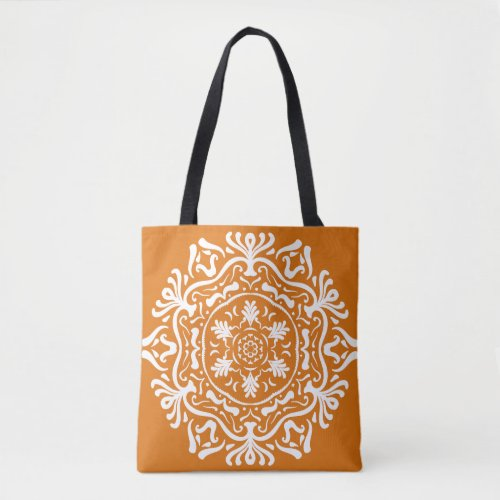 Pumpkin Pie Mandalla Tote Bag