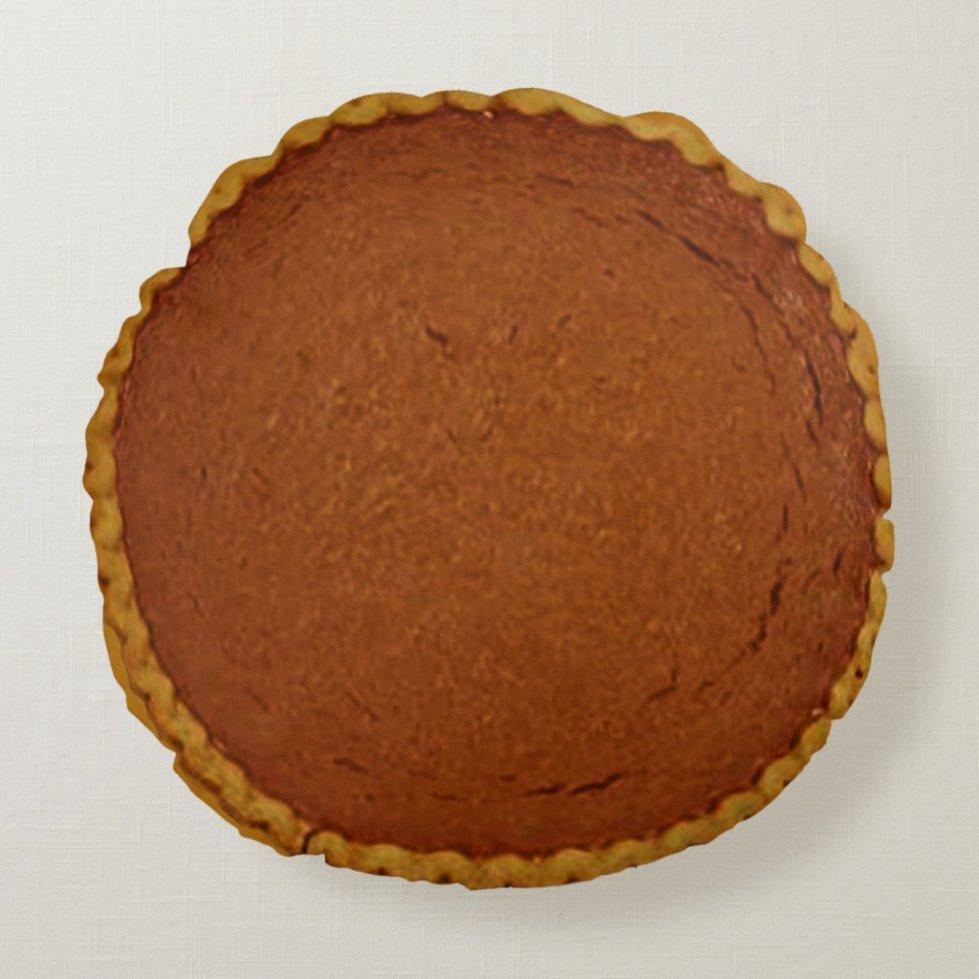 Pumpkin Pie Round Pillow