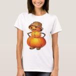 Pumpkin Snowman (Vintage Halloween Card) T-Shirt