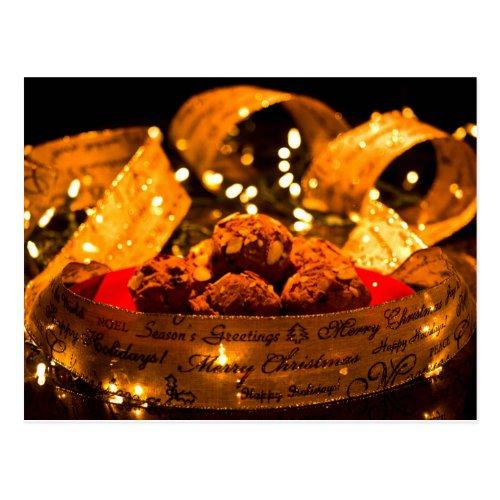 Pumpkin Spice Muffin Recipe Christmas Postcard