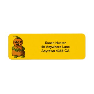 Pumpkinman Return Address Labels