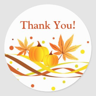 Pumpkins and leaves - Sticker sticker