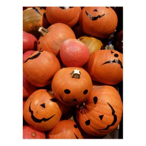 Pumpkins Halloween Party Invitation Postcard