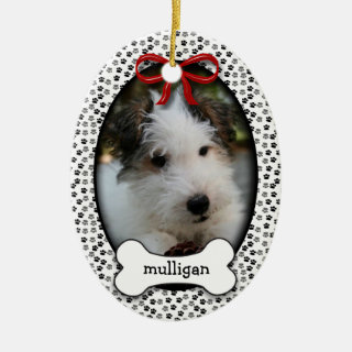 Puppy Dog Christmas or Commemorative Keepsake Ceramic Ornament