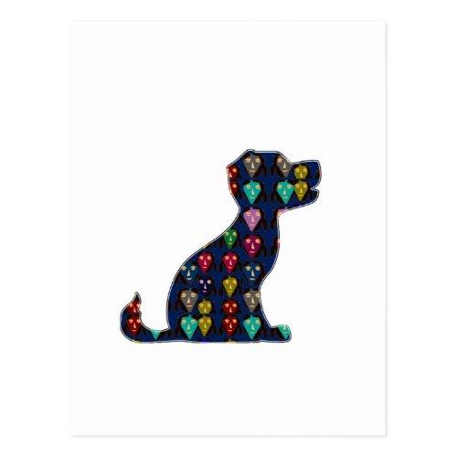 PUPPY LOVE dog pet animal NVN96 NavinJOSHI FUN Postcard