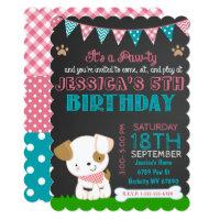 Puppy Party Invitation Puppy Paw-ty Birthday
