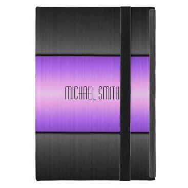 Purple and Black Stainless Steel Metal iPad Mini Cover