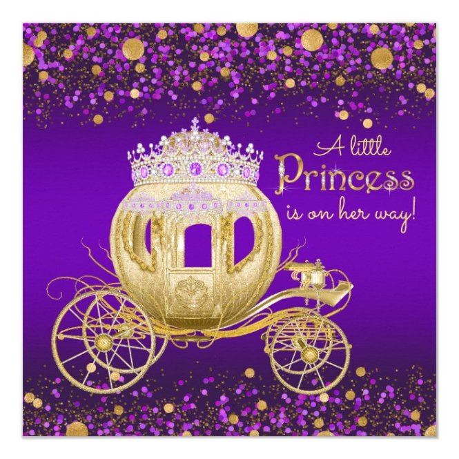 Purple And Gold Princess Carriage Baby