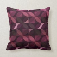 Purple and Plum Modern Pattern Throw Pillows | Zazzle