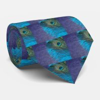 Purple and Teal Peacock Tie | Zazzle