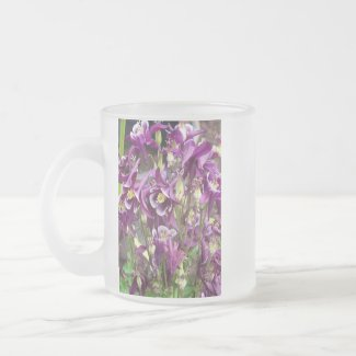 Purple and White Columbines Mug mug