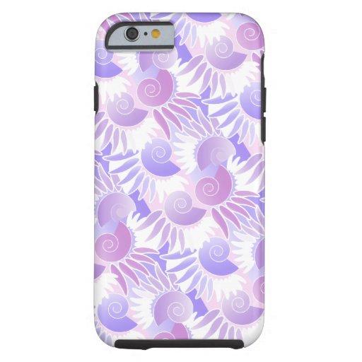 Purple Art Deco Seashell Tough iPhone 6 Case