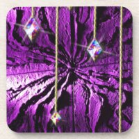 Purple Crystal Passion Drink Coasters