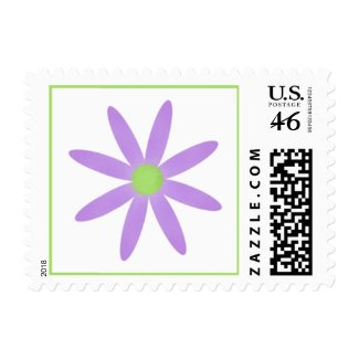 Purple Flower Postage Stamp zazzle_stamp