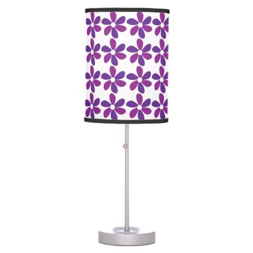 Purple Flowers Desk Lamps  Zazzle