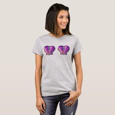 Purple Glitter Clamshell Bra T-Shirt