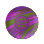 Purple Green Color Swish abstract Dinner Plate