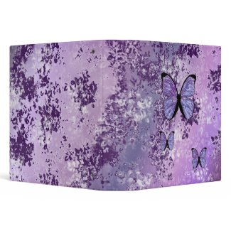 Purple Grunge Binder binder