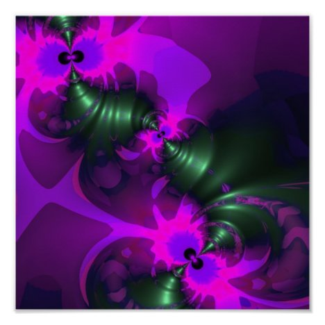 Purple Imp – Violet and Magenta Ribbons Poster