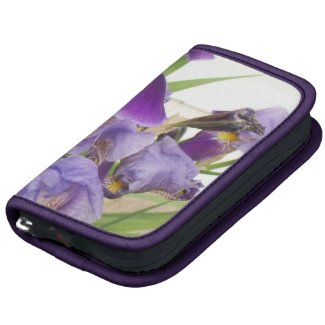 Purple Iris Folio Organizer