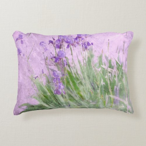 Purple Irish Watercolor Decorative Pillow