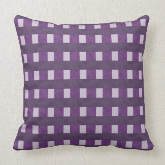 Purple Lavender Checks Pillow