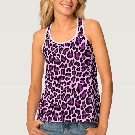 Purple Leopard Skin Spots Tank Top