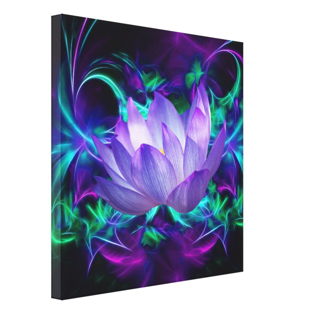 Purple Lotus flower and its meaning Canvas Print   Zazzle