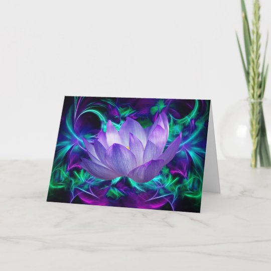 Purple lotus flower and its meaning card   Zazzle.com