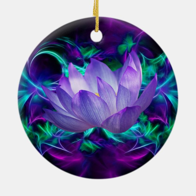 Purple lotus flower and its meaning ceramic ornament   Zazzle.com