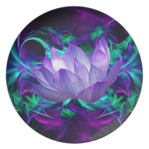 Purple lotus flower and its meaning dinner plate   Zazzle
