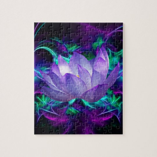 Purple lotus flower and its meaning jigsaw puzzle   Zazzle.com