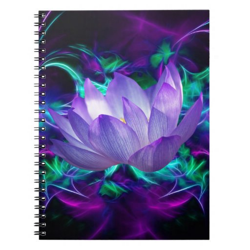 Purple lotus flower and its meaning spiral note book   Zazzle