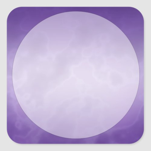 Purple Marble Label Large Square Square Sticker
