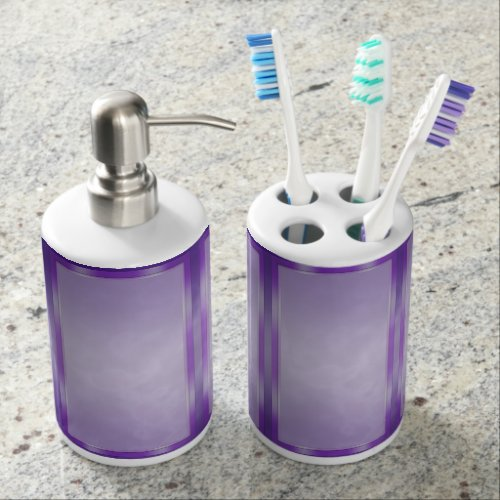 Purple Marble Panels Bathroom Set