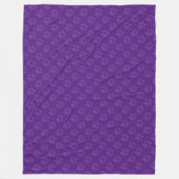 Purple Paw Prints Fleece Blanket