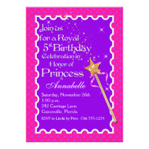 Purple, Pink Princess Party PHOTO Birthday Invite