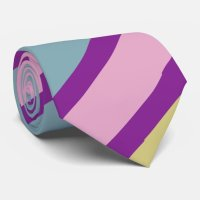 Purple, Pink, Teal and Yellow Striped Tie | Zazzle