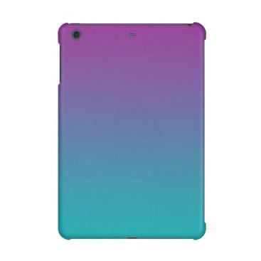 Purple & Teal Ombre iPad Mini Case