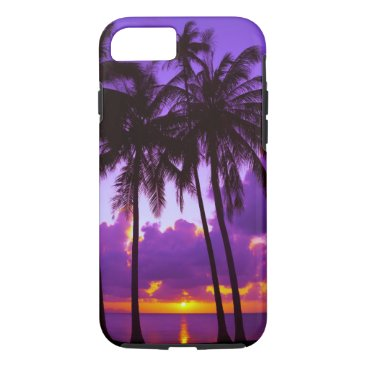 Purple Tropical Sunset 3 Tough iPhone 7 Case