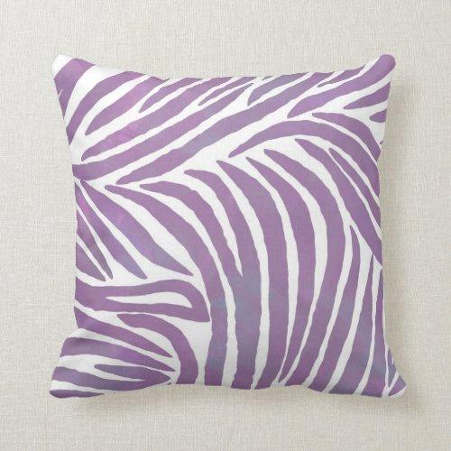 Purple Zebra Print Pillow