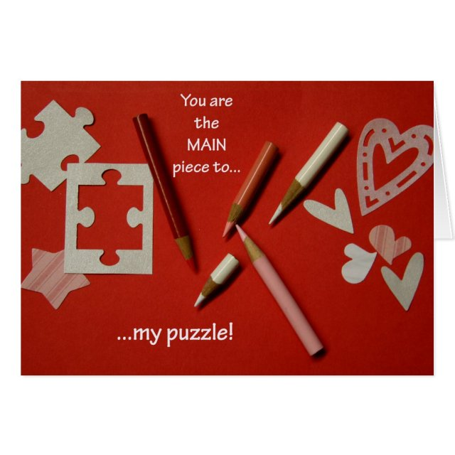 Puzzle Lovers Valentine's Day Card - jjhelene