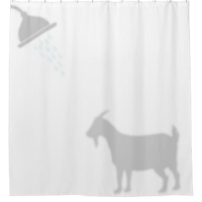 pygmy goat shadow silhouette shadow buddies shower curtain zazzle com