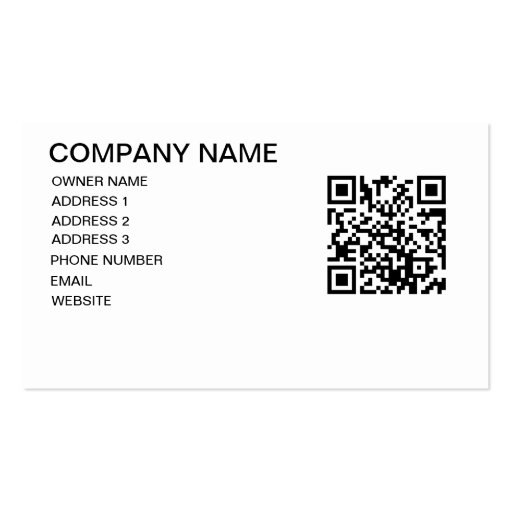 QR CODE STORE TEMPLATE BUSINESS CARD