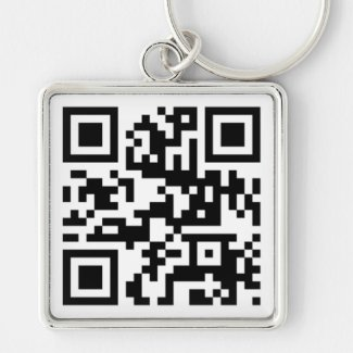 QR Code - Talk nerdy to me! Key Chain